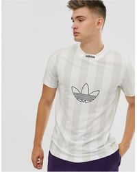 adidas Originals – Gestreiftes T-Shirt - Weiß