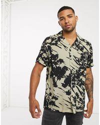 ASOS Revere Collar Regular Fit Shirt - Multicolour