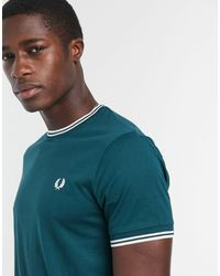 Fred Perry Twin Tipped Ringer T-shirt - Green