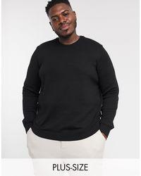 TOPMAN - Big & Tall - Camicia a maniche corte elasticizzata nera - Lyst
