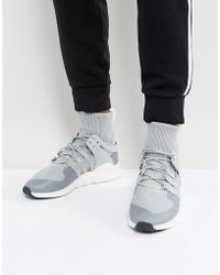 Eqt Support Adv Winter Sneakers In Gray Bz0641