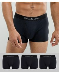 Abercrombie & Fitch - 3 Pack Core Trunks Logo Waistband In Black - Lyst