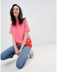 adidas Originals - Colorado Panelled Trefoil T-shirt In Pink - Lyst