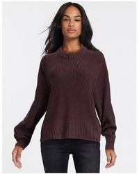 Monki Round Neck Sweater - Red