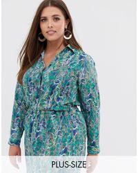 AX Paris Разноцветная Рубашка Со Змеиным Принтом -многоцветный - Синий