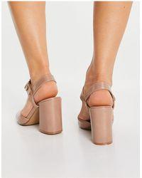 Office High Five Block Heel Sandals - Natural