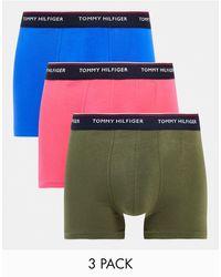 Tommy Hilfiger Набор Из 3 Боксеров-брифов С Логотипом На Поясе (синего, Розового И Оливкового Цвета) -разноцветный - Многоцветный