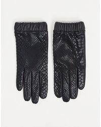 ASOS Leather Gloves - Black