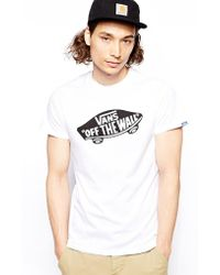 5f6b45f8ae Vans Off The Wall Mixed Fill T-Shirt in White for Men - Lyst
