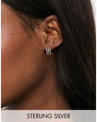 Kingsley Ryan Витые Серьги-кольца Диаметром 12 Мм Из Стерлингового Серебра -серебристый - Коричневый