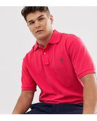 Polo Ralph Lauren Красное Поло Из Пике С Логотипом Big & Tall - Розовый