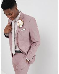 SELECTED - Slim Suit Jacket In Rose - Lyst