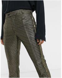 ASOS Slim Suit Smart Trousers - Metallic