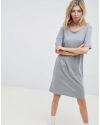 High Neck Metallic Dress with Ruching - Black Cheap Monday Free Shipping In China 4CP5Vz44z