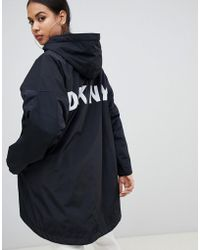 DKNY - Kapuzenjacke zum Wenden mit Logo - Lyst