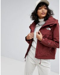 The North Face - Short Cagoule In Burgundy - Lyst