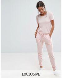 Nocozo - Short Sleeve Jumpsuit - Lyst