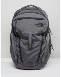 The North Face - Surge Backpack In Grey - Lyst