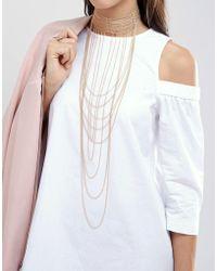 ALDO | Multi Chain Delicate Choker Necklace | Lyst