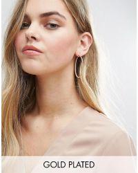 ALDO - Gold Plated Stone Detail Hoop Earrings - Lyst