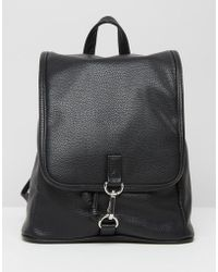 Monki - Faux Leather Clasp Backpack - Lyst