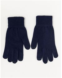 ASOS – Marineblaue Touchscreen-Handschuhe
