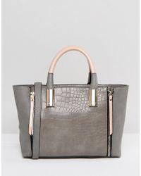 Lipsy - Gray & Pink Zip Grab Bag - Lyst