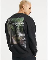 The Couture Club Oversized Oil Paint Sweatshirt - Black