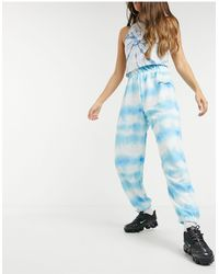 New Girl Order jogger High Waisted sweatpants - Blue