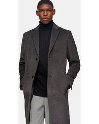 TOPMAN Considered Classic Fit Coat - Grey