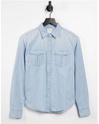 Lee Jeans Regular Fit Western Denim Shirt - Blue
