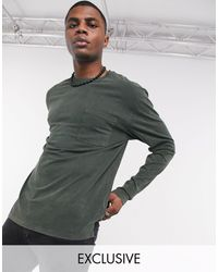 Reclaimed (vintage) Long Sleeve Pocket T-shirt - Green
