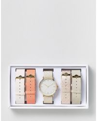 ALDO Rose Gold Multi Stap Watch - Metallic