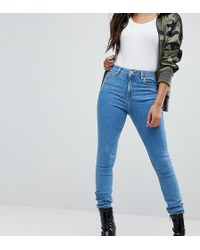 ASOS - Asos Design Petite Ridley Ankle Grazer Jeans In Lily Wash - Lyst