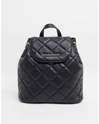 Valentino By Mario Valentino Ocarina Quilted Backpack - Black