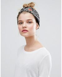 New Look Customized Badge Headscarf - Black