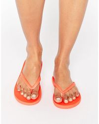Billabong - Horizon Red Flip Flops - Lyst