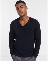 ASOS Cotton V-neck Sweater - Black