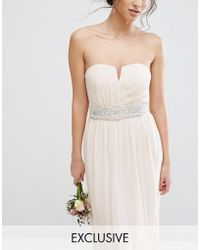 TFNC London - Wedding Wide Sash Belt With Pretty Embellishment - Lyst