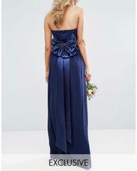 TFNC London - Wedding Bow Satin Belt - Lyst