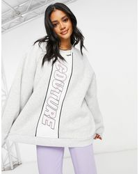 The Couture Club Sweat-shirt oversize - Gris