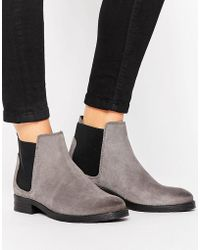 Vero Moda - Nubuck Leather Chelsea Boot - Lyst