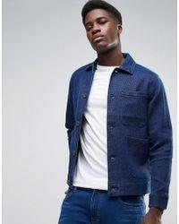 WÅVEN - Waffle Indigo Workwear Jacket - Lyst