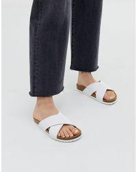 Office Hoxton White Slider Sandals