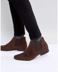 New Look | Chelsea Boots In Dark Brown | Lyst