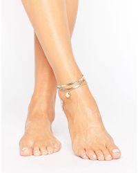 ALDO - Gold Stacking Anklets - Lyst