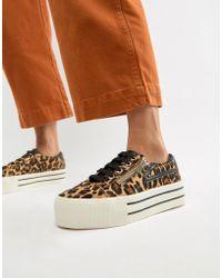 Stradivarius - Leopard Print Sneaker With Zip Detailing - Lyst