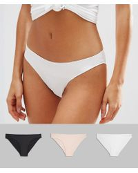ASOS - Design 3 Pack Basic Seam Free Brazilian Trousers - Lyst