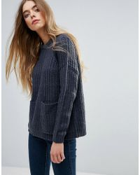 First & I - Front Pocket Knitted Sweater - Lyst