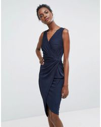 Wal-G Sleeveless Asymmetric Dress - Blue